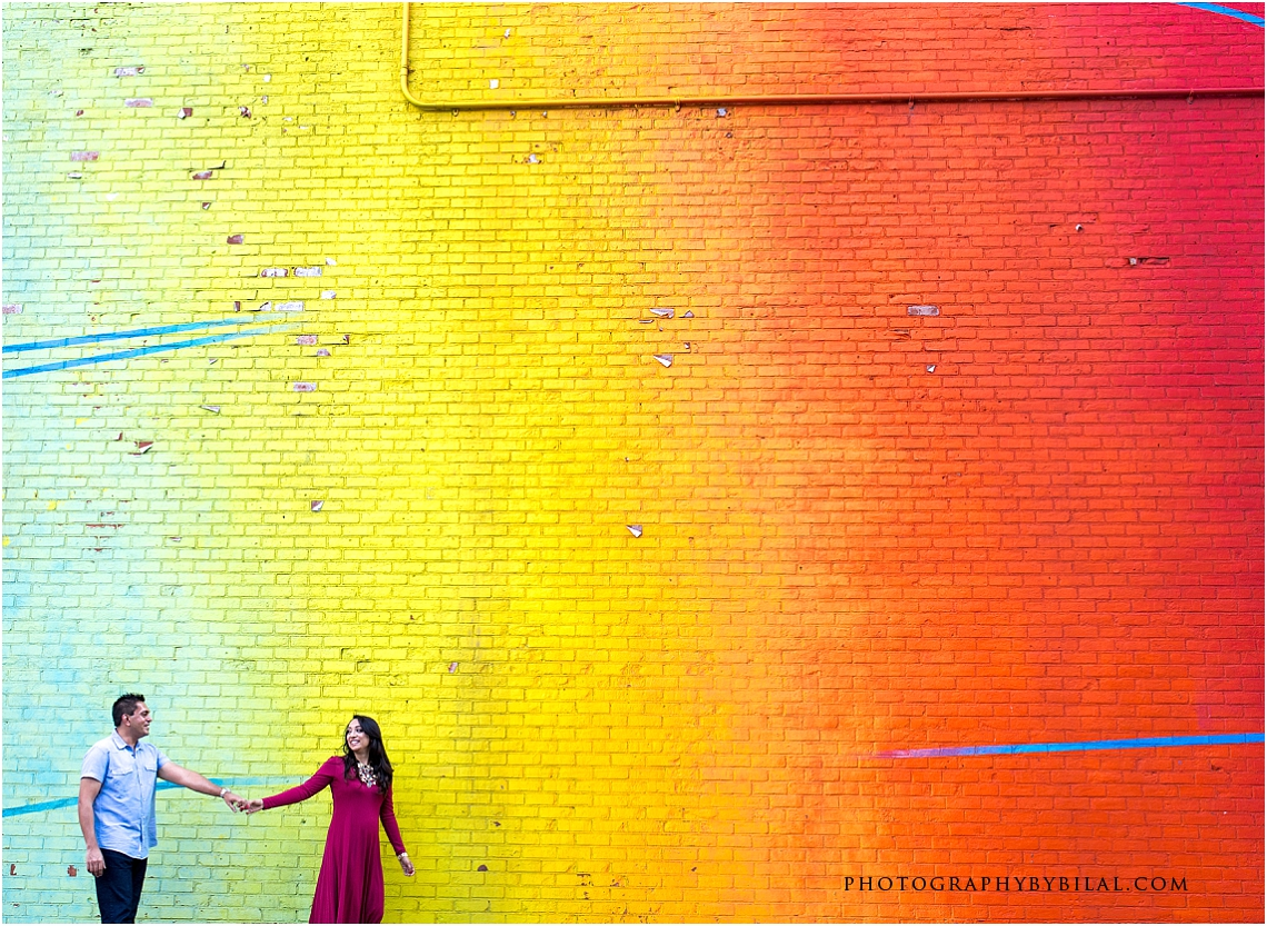 Nadia & Waseem's Brooklyn Bridge Park Engagement Session