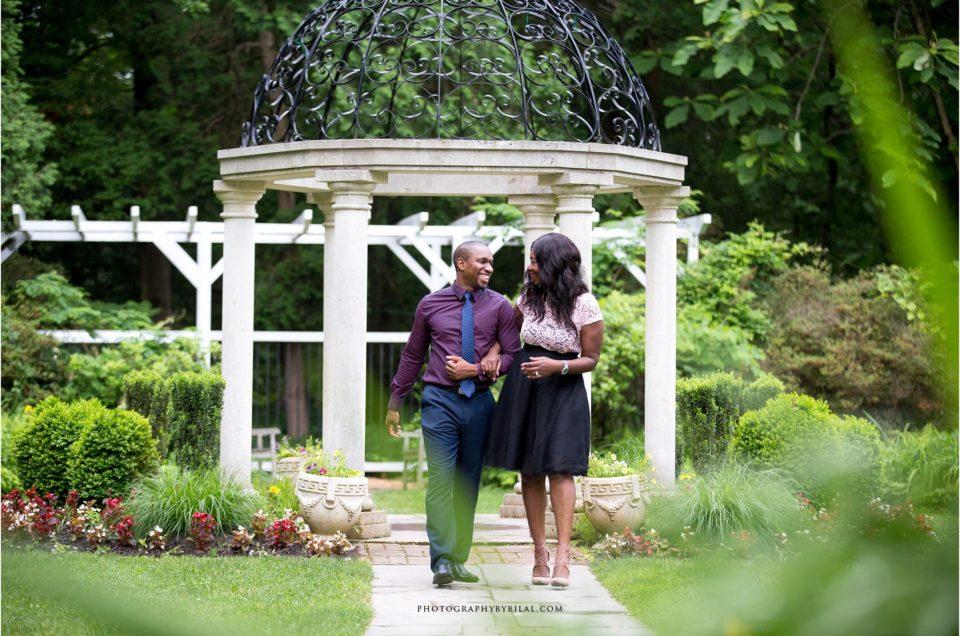 Nadine & Jason Sayen Gardens Engagement pictures
